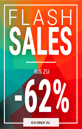 Flash sales bis zu  -62%