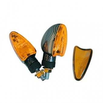 Motorrad & Roller Blinker Chaft Blaster Set Carbon