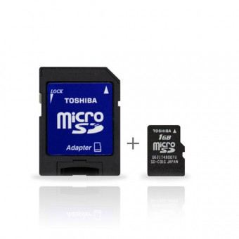 Bordkamera TOSHIBA Carte Memoire Micro SD + Adaptateur SD
