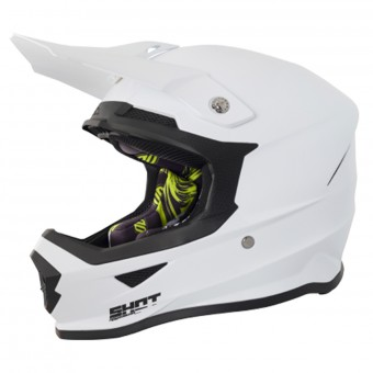 Casque Cross SHOT Furious Solid White