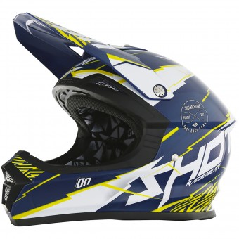 Casque Cross SHOT Furious Infinity Blue Yellow