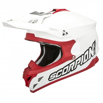 Casque Cross Scorpion VX-15 Evo Air Weiß Rot