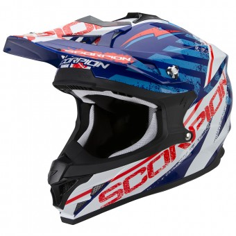 Casque Cross Scorpion VX-15 Evo Air Gamma Blue White