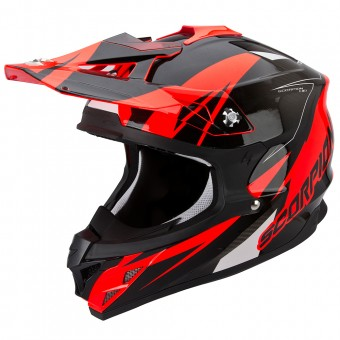 Casque Cross Scorpion VX-15 Evo Air Krush Neon Red Black