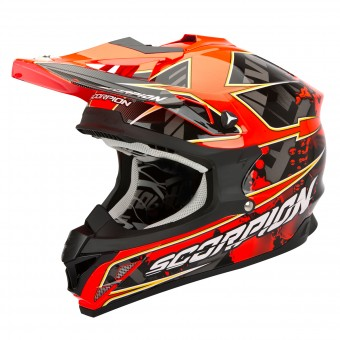Casque Cross Scorpion VX-15 Evo Air Magma Root Fluo