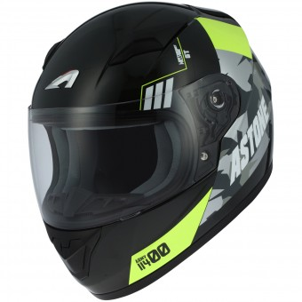 Casque Kinder Astone GT2 Kids Army Black Yellow