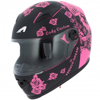 Casque Kinder Astone GT2 Kids Lady Custom Black Pink