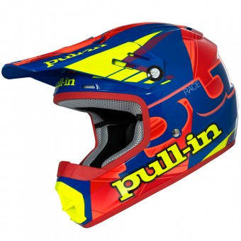 Casque Kinder pull-in Kinder Pull-in Blau Neon Orange Gelb