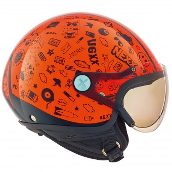 Casque Kinder Nexx X60 Kids Spock Neon Orange