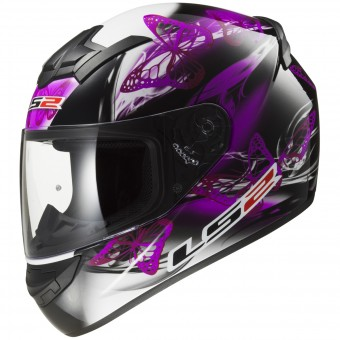 Casque Integral LS2 Rookie Flutter Black Purple FF352