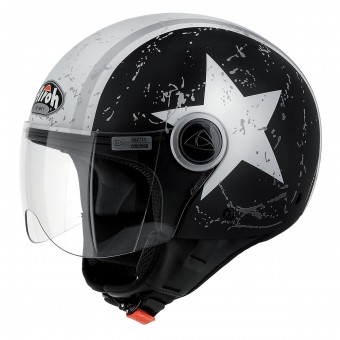 Casque Jet Airoh Compact Shield Schwarz Matt