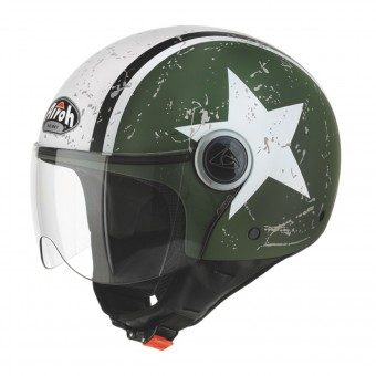Casque Jet Airoh Compact Shield Khaki Matt