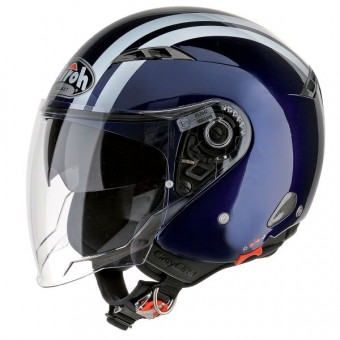 Casque Jet Airoh City One Flash Blau Nuit