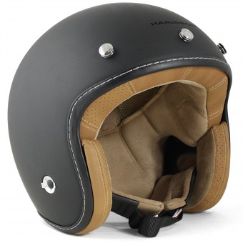 Casque Jet HARISSON Hellcat Matt Black