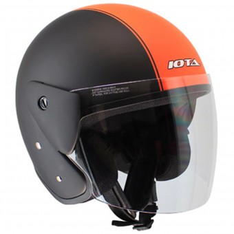 Casque Jet IOTA OP02 Town Matt Black Orange