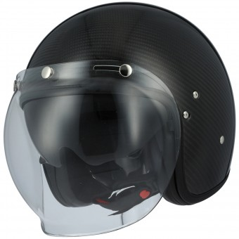 Casque Jet Astone Vintage Visor Carbon Black 3K