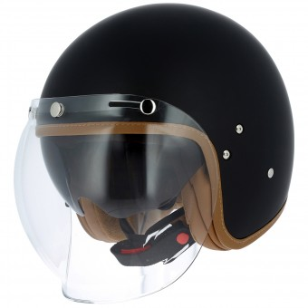 Casque Jet Astone Vintage Visor Matt Black