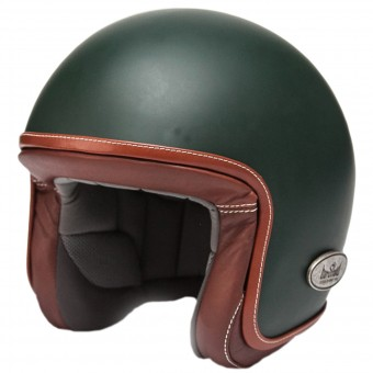 Casque Jet Baruffaldi Zar Vintage 2.0 Green Leather