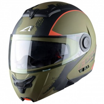 Casque Klapp Astone RT 800 Venom Khaki Black