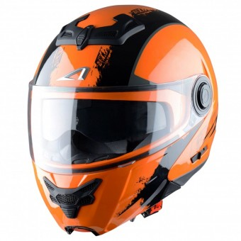 Casque Klapp Astone RT 800 Venom Matt Black Orange