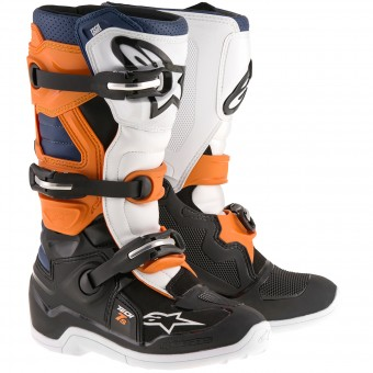 Cross Stiefel Alpinestars TECH 7 S Black Orange Blue - Kinder