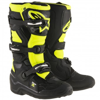 Cross Stiefel Alpinestars TECH 7 S Black Yellow Fluo- Kinder