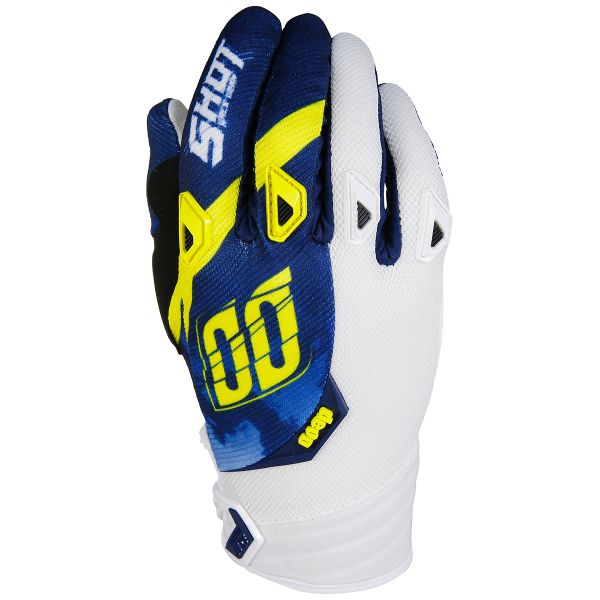Cross Handschuhe SHOT Devo Squad Blue Yellow White