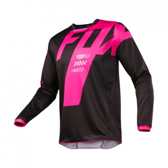Cross Trikot FOX 180 Master Black Pink 001
