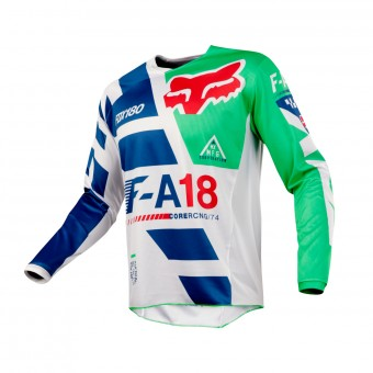 Cross Trikot FOX 180 Sayak Green 004