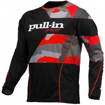 Cross Trikot pull-in Fighter Camo Black Orange