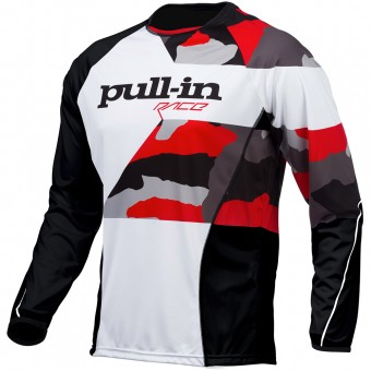 Cross Trikot pull-in Fighter Camo Black White Red