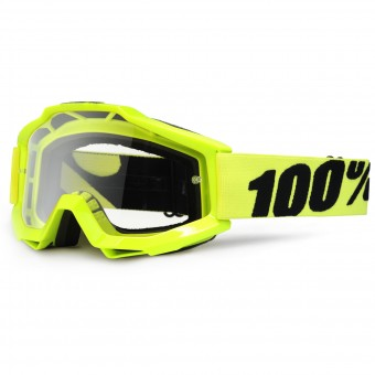 Crossbrille 100% Accuri Fluo Yellow Clear Lens - Kinder