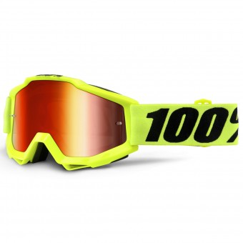 Crossbrille 100% Accuri Fluo Yellow Mirror Red Lens - Kinder