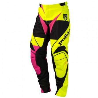 Cross Hose pull-in Fighter Neon Yellow Pink Pant
