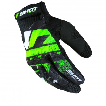 Cross Handschuhe SHOT Drift Neon Green CE