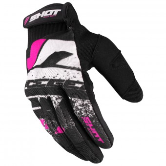 Cross Handschuhe SHOT Drift Neon Pink CE