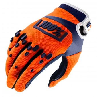 Cross Handschuhe 100% Airmatic Orange Navy