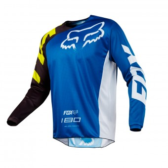 Cross Trikot FOX 180 Race Blue White 002