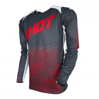 Cross Trikot SHOT Aerolite Optica Grey Red