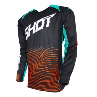 Cross Trikot SHOT Aerolite Optica Mint Orange