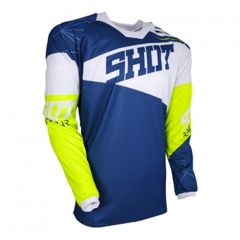 Cross Trikot SHOT Contact Infinite Blue White Neon Yellow