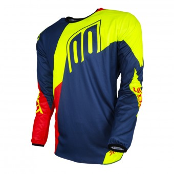 Cross Trikot SHOT Devo Alert Blue Red Neon Yellow