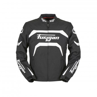 Motorradjacke Furygan Arrow Black White