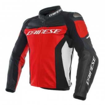 Motorradjacke Dainese Racing 3 Red Black White