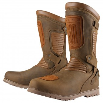 Motorradstiefel ICON 1000 Prep Waterproof Brown