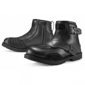 Motorradstiefel ICON El Bajo Johnny Black
