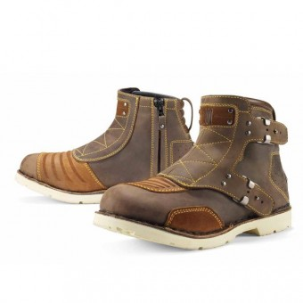 Motorradstiefel ICON El Bajo Oiled Brown