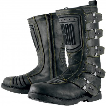 Motorradstiefel ICON Elsinore Johnny Black