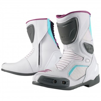 Motorradstiefel ICON Overlord Women Boot White
