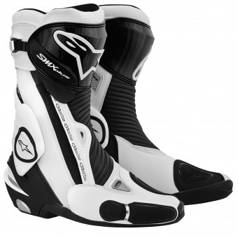 Motorradstiefel Alpinestars SMX Plus Black White